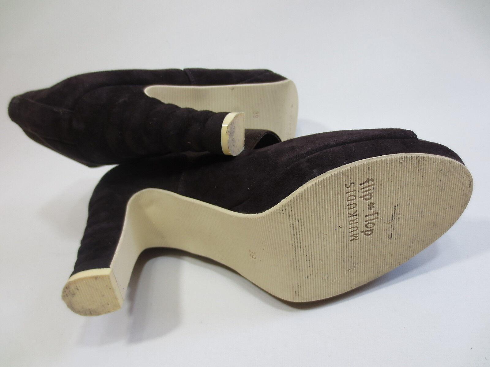 Sandalette MURKUDIS Flip Flip Flip Flop Hochfront Pumps 39 Leder braun TIP TOP /Z4 b74aa7
