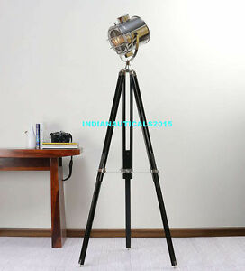 studio Marine Designer\'s Searchlight Floor Lamp Tripod Lighting ...