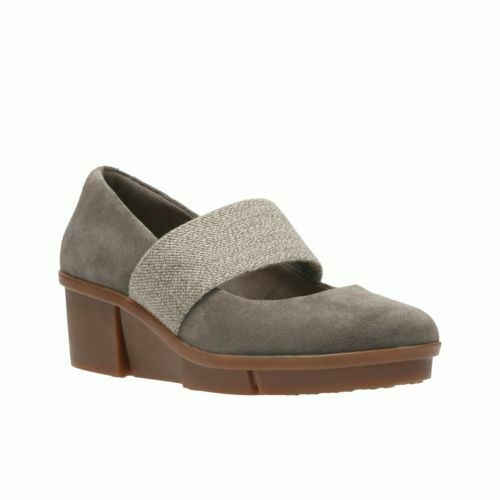 Clarks Pola River Taupe En Daim Chaussures Femmes Taille UK 7D