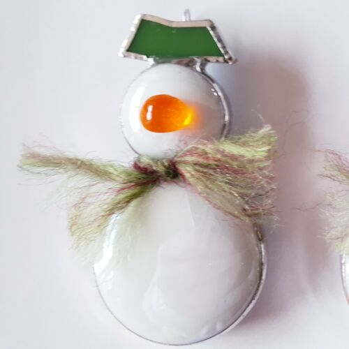 Stained Glass Christmas Tree Decoration-The Snowman Fabulous Gift