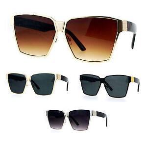 a788277e45d Image is loading SA106-Oversize-Metal-80s-Disco-Mob-Rectangular-Sunglasses