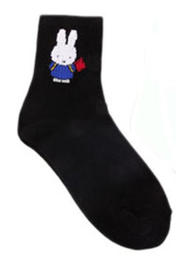 Cute Tiny White Bunny Rabbit Socks 5 colours Everyday Birthday Gift 1pc Miffy