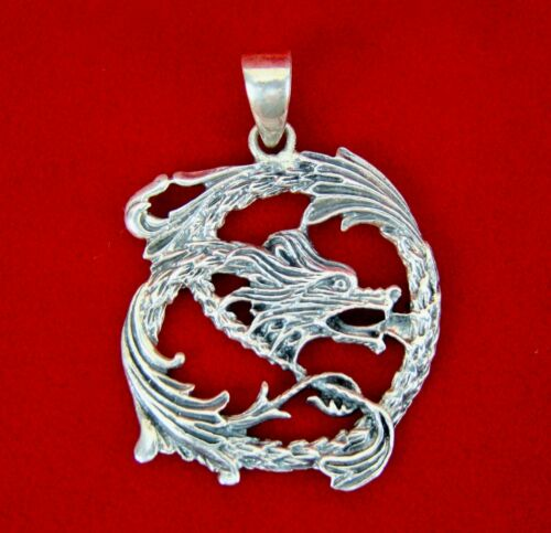 Vintage Sterling Silver Asian Character MOP Pendant Necklace