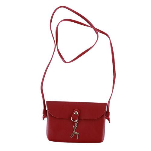 Gift Women Shoulder Pouch Coin Wallet Female Keys Pendant Fawn Messenger Bag HY