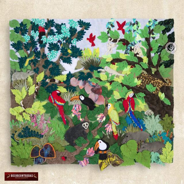 Christmas Wall Hanging Quilt 10in- 3D peruvian arpillera - Christmas ...
