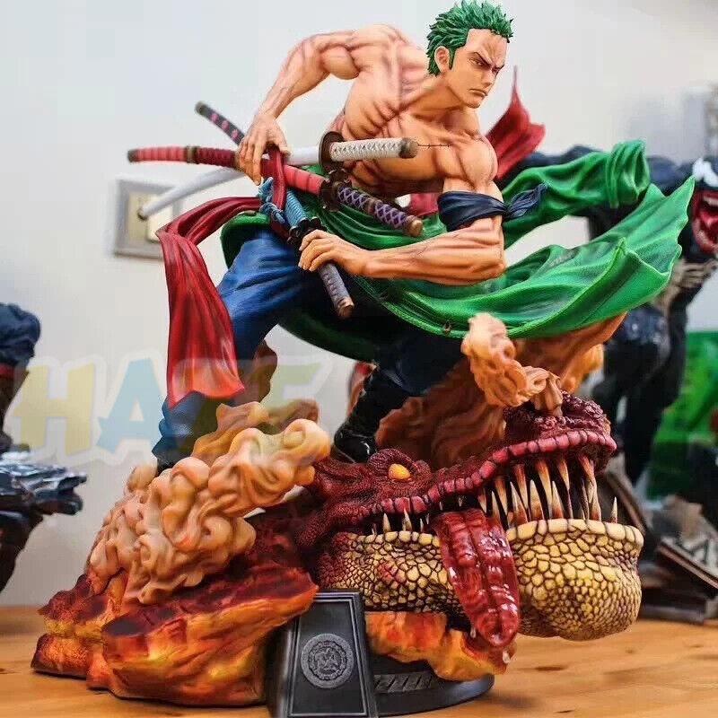 Anime One Piece RGoldnoa ZGold Statue 1 4 Action Gemalte Figur Spielzeug Model