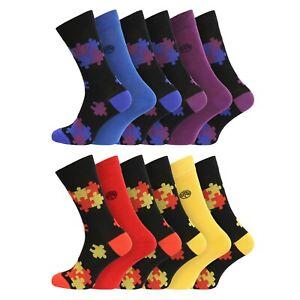 Mens 3 Pairs Soft Breathable Natural Bamboo Socks UK 7-11 EU 40-45 - Jigsaw