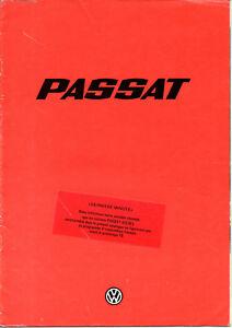 Catalogue Publicitaire Volkswagen Passat Gl L Ld Gld Gls 1978 Avec Les éQuipements Et Les Techniques Les Plus Modernes