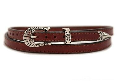 """Two Western 3//4/"""" Leather Hat Band for Cowboy Hats Plain Black /& Brown Leather"""