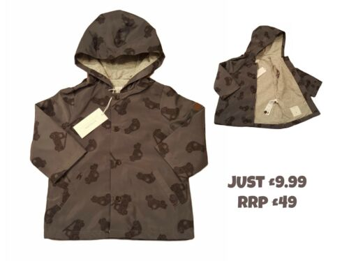 3Yrs BNWT DESIGNER RRP £49! Baby Boys Coat Jacket Spring Summer Raincoat 6Mth