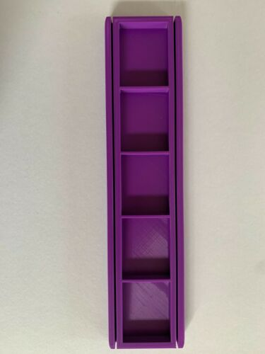 3D Printed Card and Resource Holders Single 26cm x 6cm x 1cm