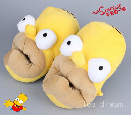 28CM The Simpson 3D Head Shaped Novelty Slippers for Men Winner Home Shoe Gift