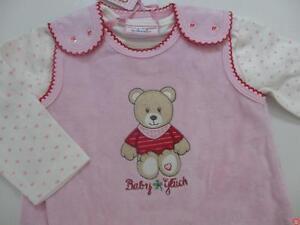 Baby-Glueck-by-Salt-amp-Pepper-Strampler-LA-Shirt-Nicki-Teddy-NEU-65824236-rosa