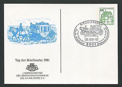 Brd Privat-ga 1981 Tag Der Marke Pferde-kutsche Pferd Horse Riegelsberg D6153 Hindernis Entfernen