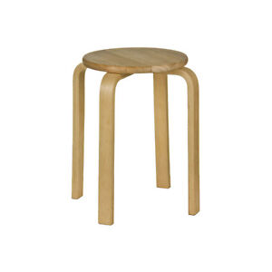 Stacking Stool Tropical Hevea Wood Home Bar Kitchen Office