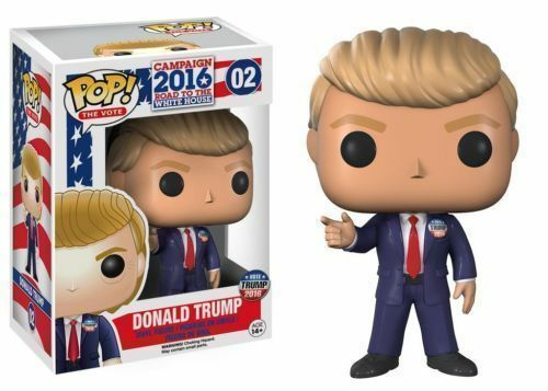 POP 02 DONALD TRUMP FUNKO VINYL FIGURE 100% GENUINE 2016 COLLECTORS