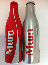 Coca Cola UK 'MUM' 2014 bottles - PAIR Diet / Regular aluminium 250ml bottles