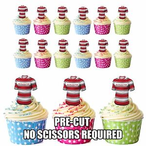 Image Is Loading PRECUT Gloucester Rugby Shirts Edible Cupcake Toppers Boys