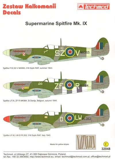 TECHMOD 1 32 SUPERMARINE SPITFIRE mk.ix