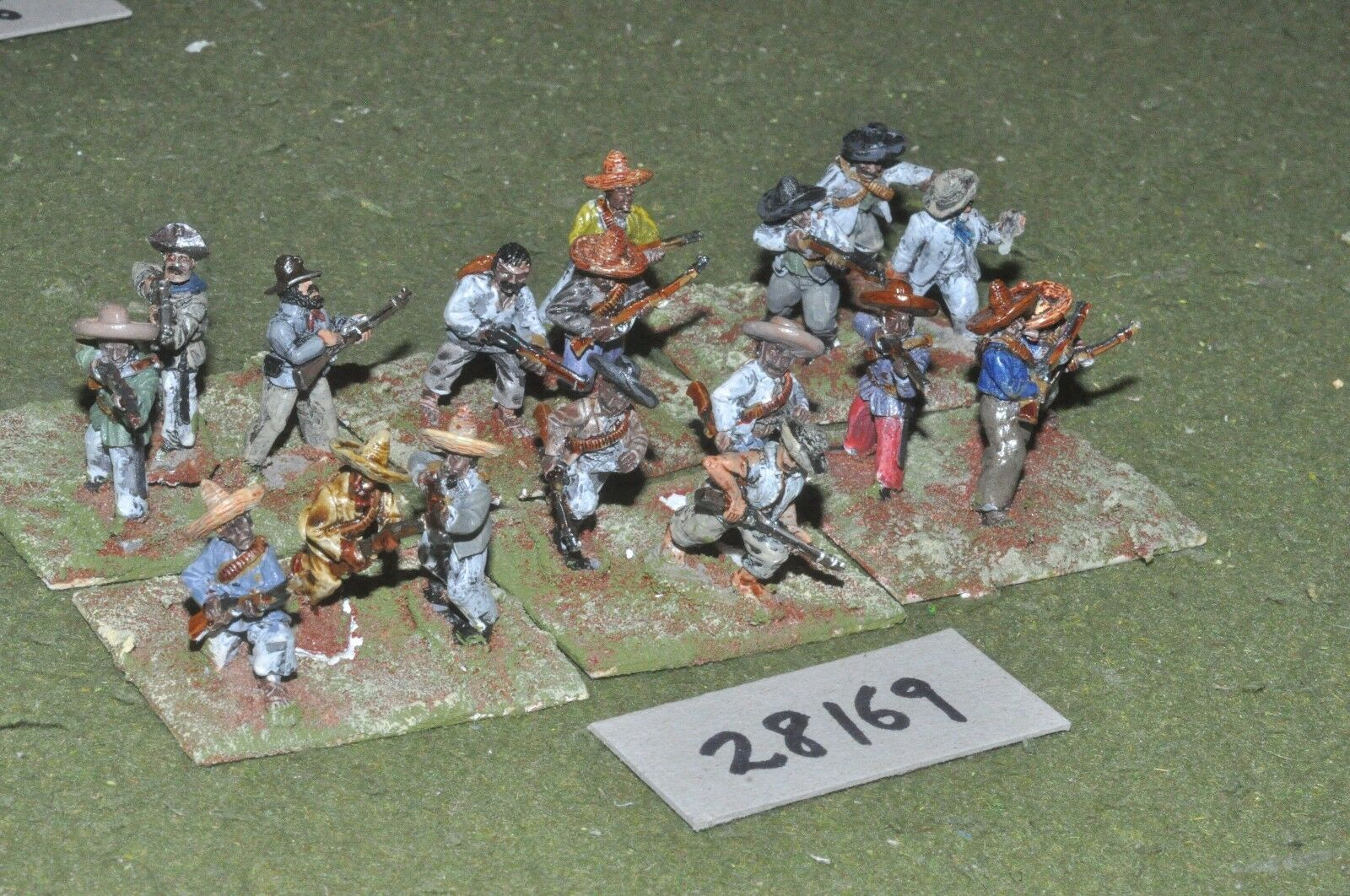 25mm colonial   mexican - maximillian adventure militia 18 figures - inf (28169)