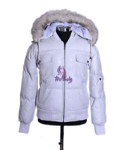 Men/'s ARCTIC PILOT Black Puffer Jacket Hooded Bomber Genuine Lambskin Leather