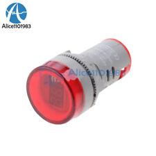 Mini 22MM AC 60-500V LED Voltmeter Voltage Meter Indicator Pilot Light ATF