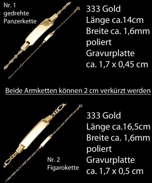 333 Goldarmketten Für Kinder Kinderarmkette Armkette Armreif Armband Gravur Gold Von Der Konsumierenden öFfentlichkeit Hoch Gelobt Und GeschäTzt Zu Werden
