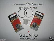 2 Energizer battery & O-ring Kit Suunto Vyper, Vytec, Gekko,Zoop & HelO2 +grease