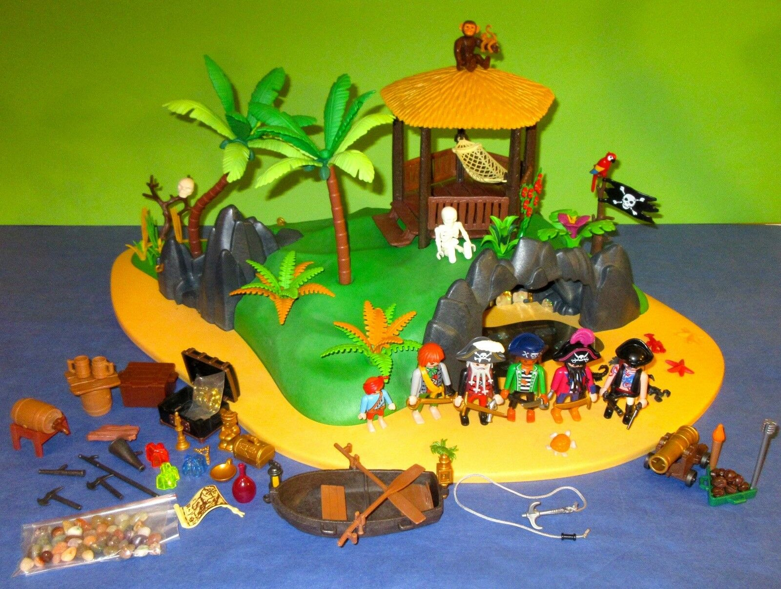 ♥Playmobil♥ 4073 große Pirateninsel mit viel Zubehör, tolle Figuren...