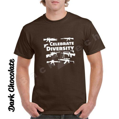 Celebrate Diversity Funny Gun Rights T Shirt 2nd Amendment Hunting Tee shooting