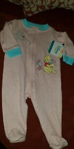 Baby-girls-pooh-bear-coverall-size-0-3months-bnwt