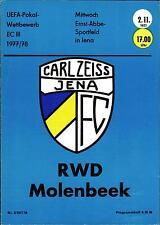 EC III 77/78 FC Carl Zeiss Jena - RWD Molenbeek, 02.11.1977