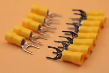 100Pcs Yellow SV5.5-6 Furcate Pre Insulating Fork Spade Crimp Terminals 12-10AWG