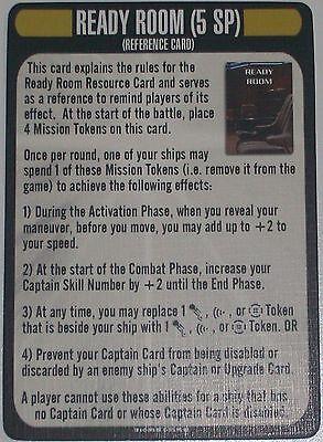 READY ROOM CARD Star Trek Attack Wing Q-CONTINUUM OP