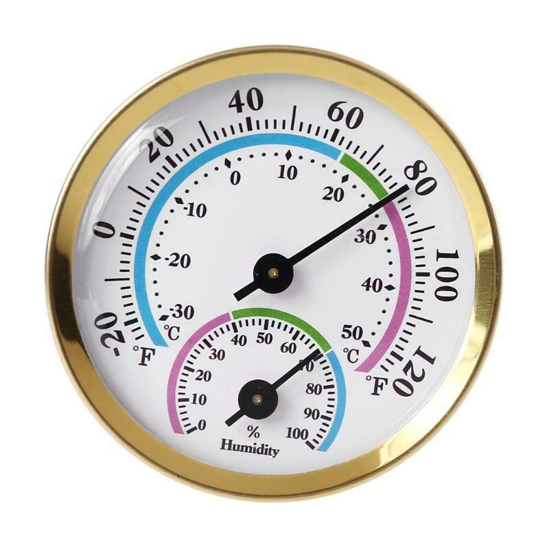 Quality Life Thermometer Wireless Indoor Outdoor Weather Round Hygrometer Gold
