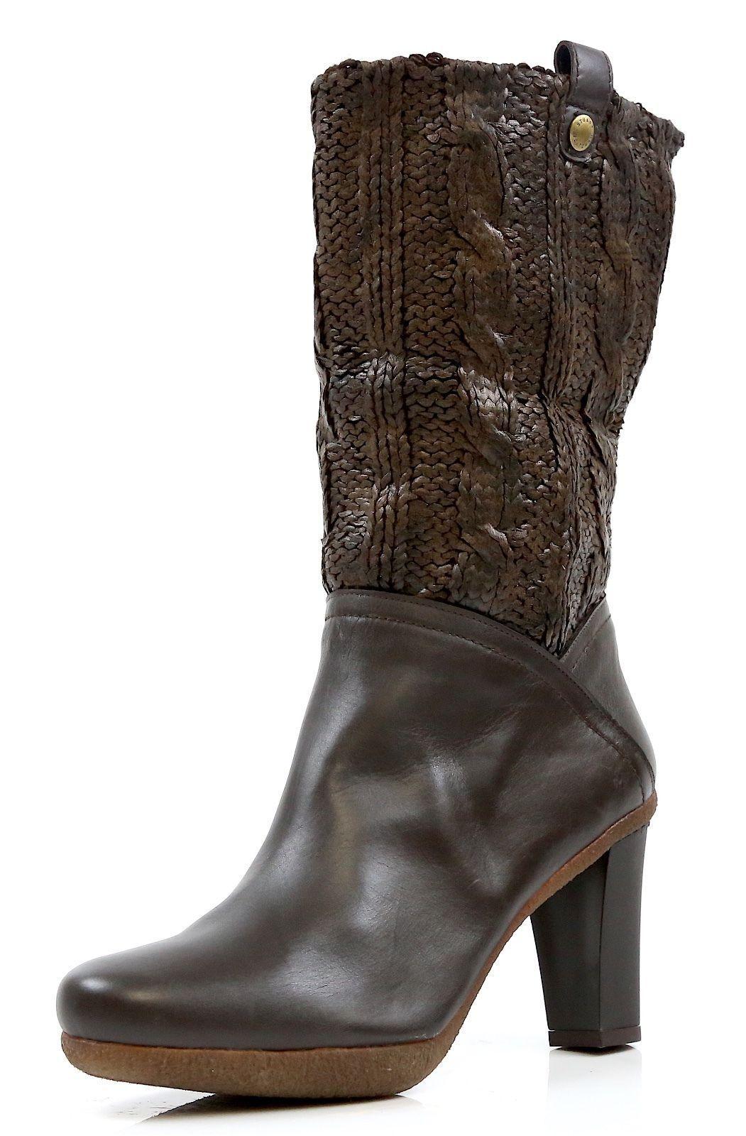 Nuevo    Stuart Weitzman Purley marrón botas de punto Lacado 9467  KW17492 Talla 8.5 B  suministro directo de los fabricantes