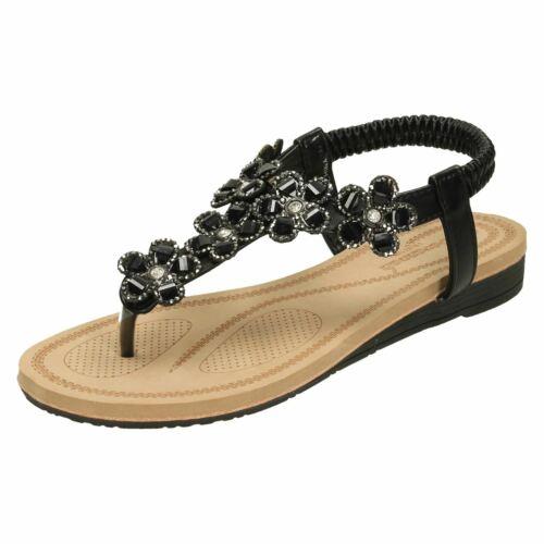 Ladies Savannah Low Wedge Toepost *Sandals*