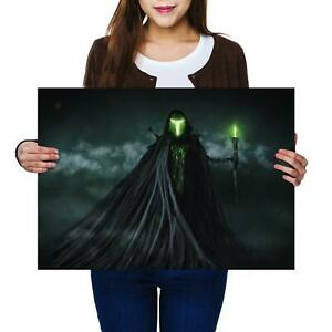 A2-Misty-Green-Lord-Horror-Spooky-Size-A2-Poster-Print-Photo-Art-Gift-14096