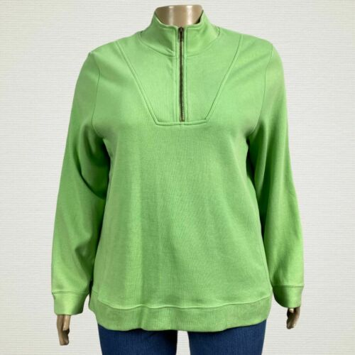 Carolyn Taylor 1/4 Zip Pullover Sweater Jacket 3X