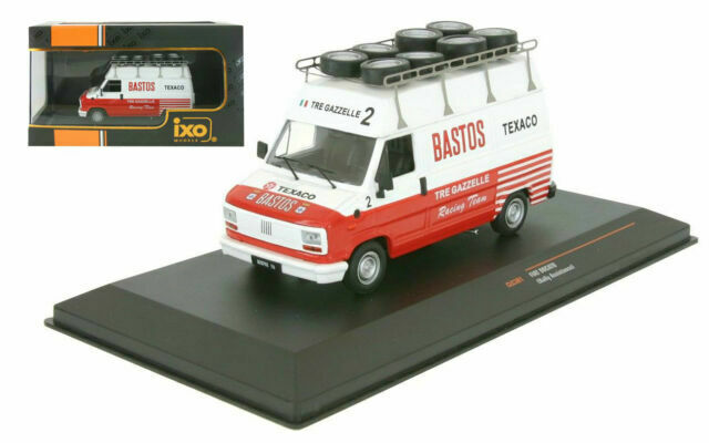 IXO 1//43 CLC301 Fiat Ducato Bastos Rally Service Assistance  Tre gazzelle racing