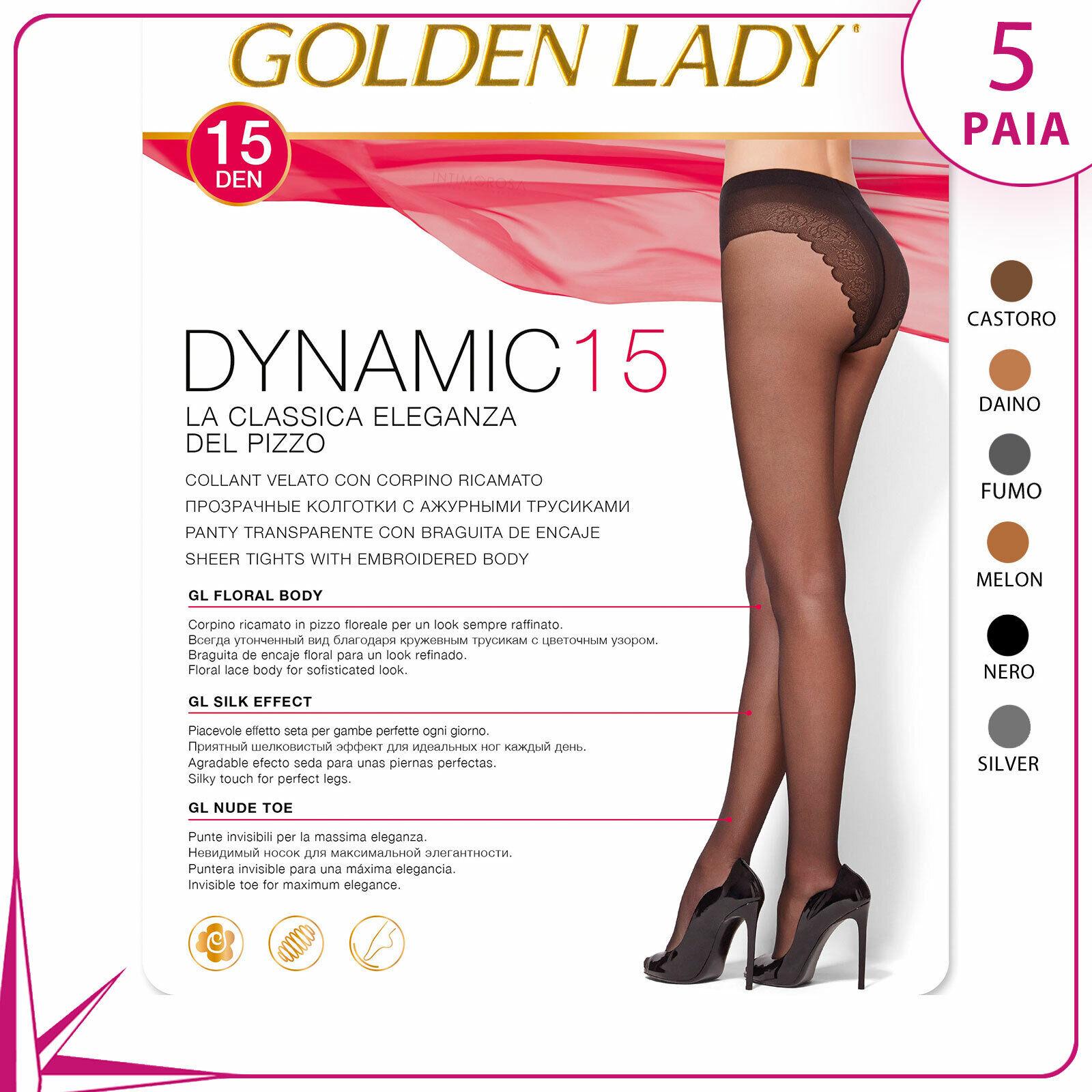 5 Paare Von Strumpfhose Golden lady Dynamic Höschen Spitze Übersichtlich