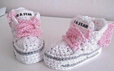 Botas Zapatos de Bebé de Ganchillo hecho a mano Zapatos Botines Tejer primero