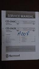 sherwood cd-1060c cd-1062r service manual repair stereo compact disc cd player