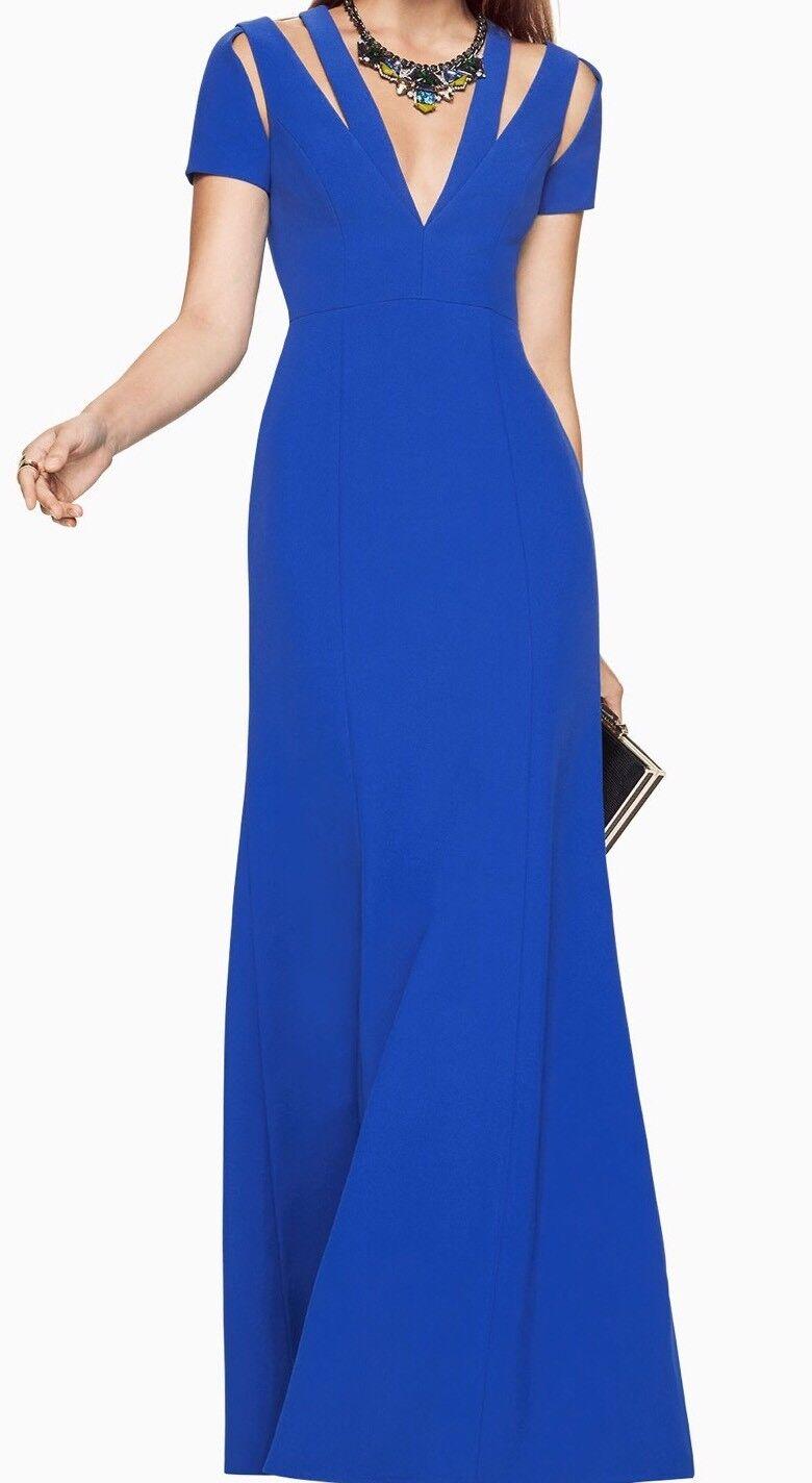 368 bluee BCBGMaxAzria bluee cut cut cut out maxi gown dress size 0 850fce