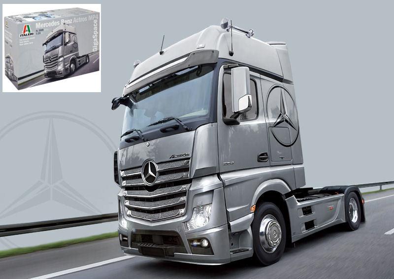 Mercedes Actros MP4 Gigaspace Camion Truck Plastic Kit Kit Kit 1:24 Model 3905 ITALERI | Pas Chers  a42562