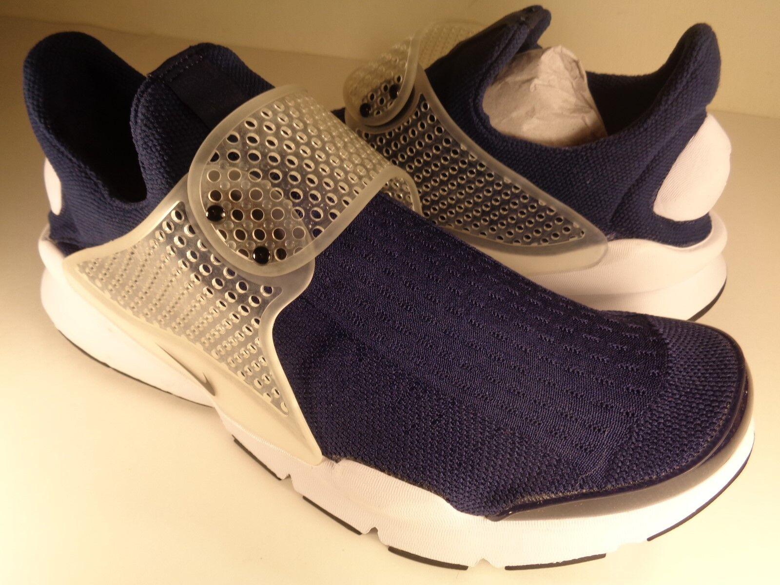Nike Sock Dart gris blanco Midnight Navy SZ 10 (819686-400)