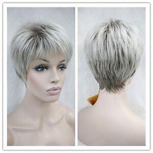 Wigs-Femme-agee-Gris-blanc-court-sante-cosplay-de-cheveux-Perruques