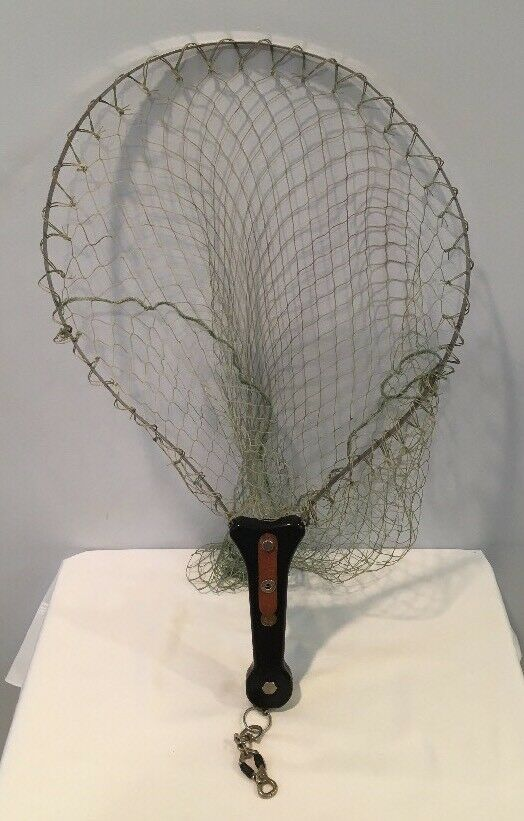Vintage Wide Mouth Fishing Net With Aluminum  Frame In Handle Made In  MINT  luxury brand