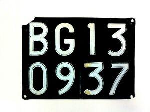 Original 1969 Bergamo Italy Auto License Plate Italian - #530