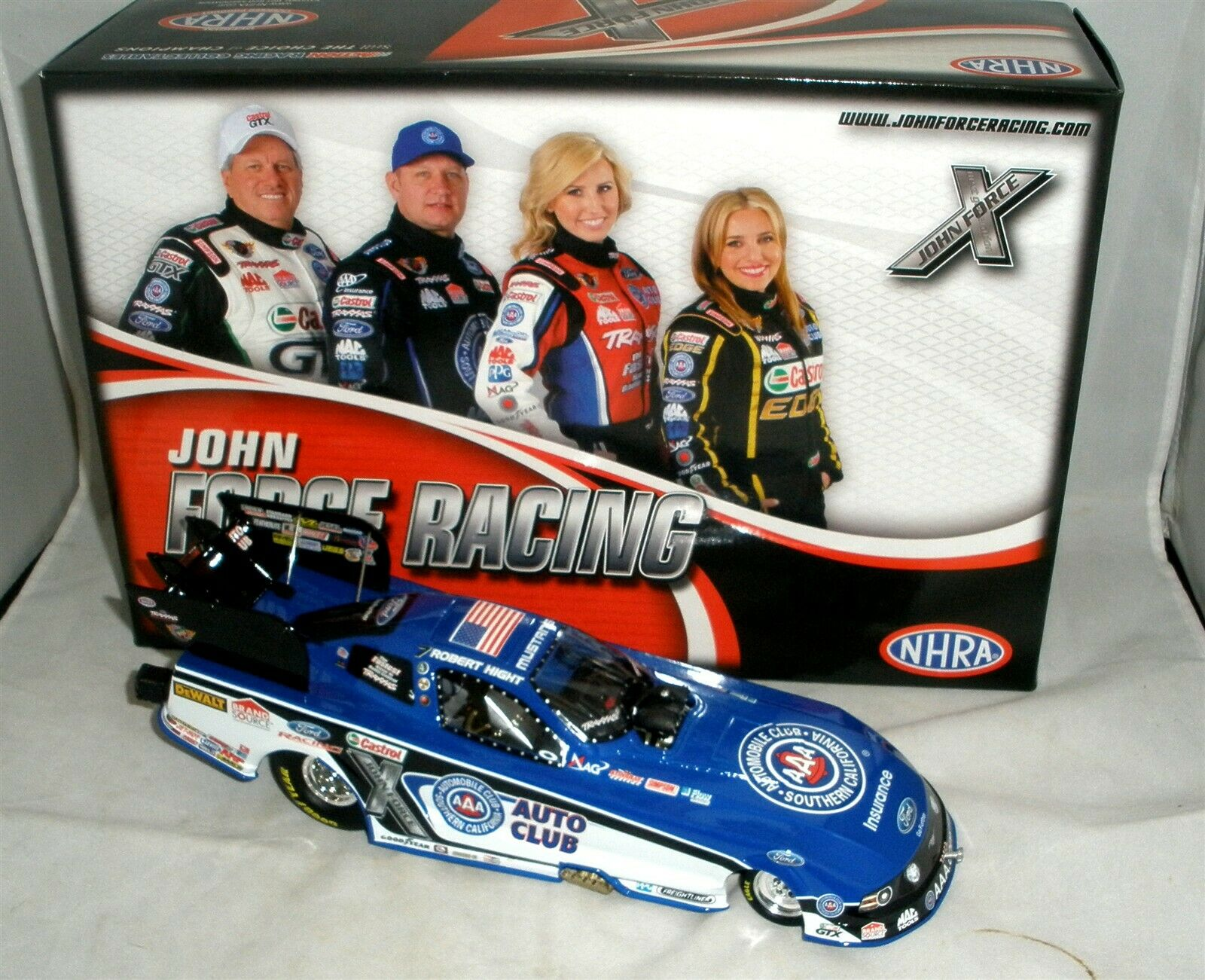 1 24 2013 2013 2013 ACTION NHRA FUNNY CAR AAA AUTO CLUB FORD MUSTANG ROBERT HIGHT 1 630 08741a